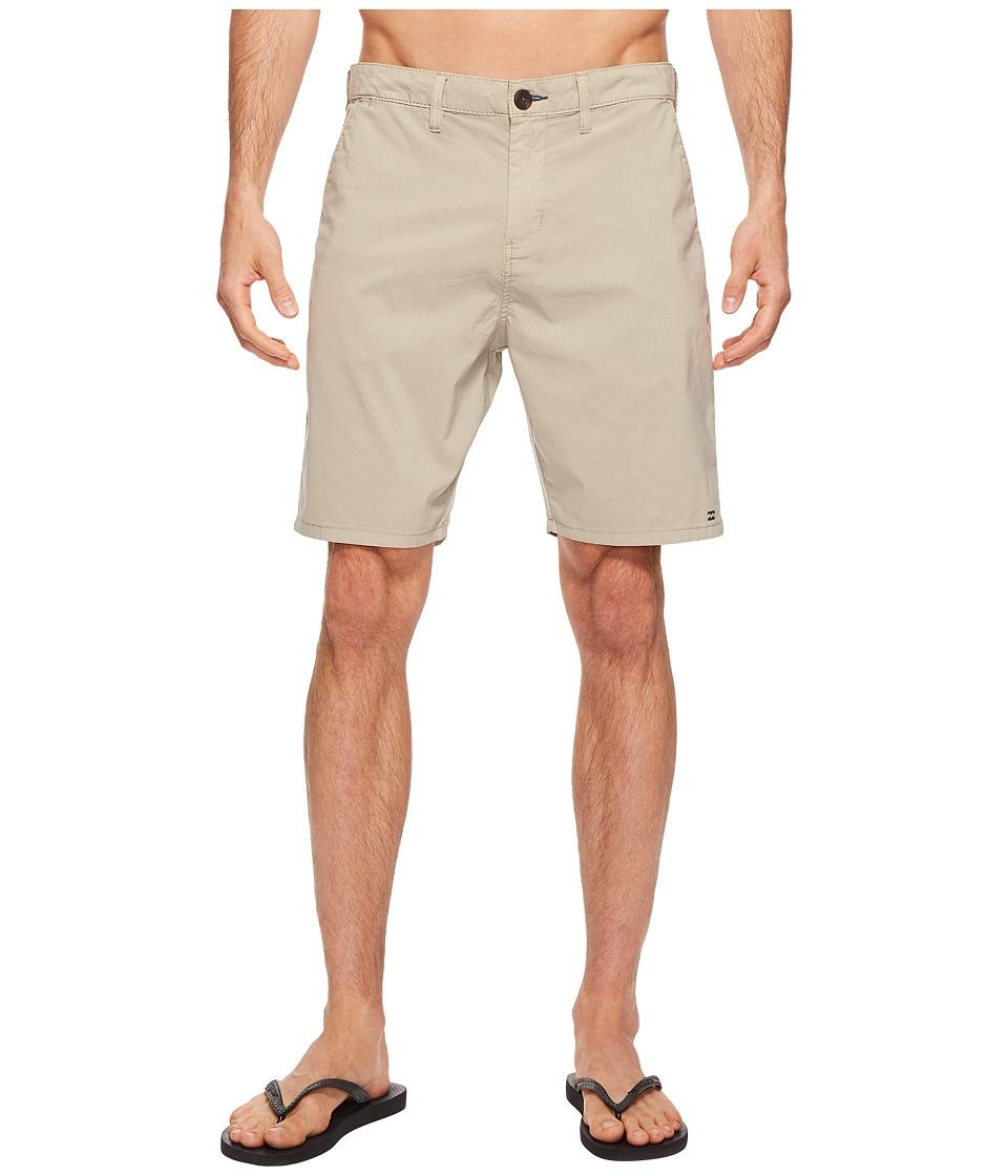 Billabong - New Order X Overdye Walkshorts (Light Khaki) Men's Shorts