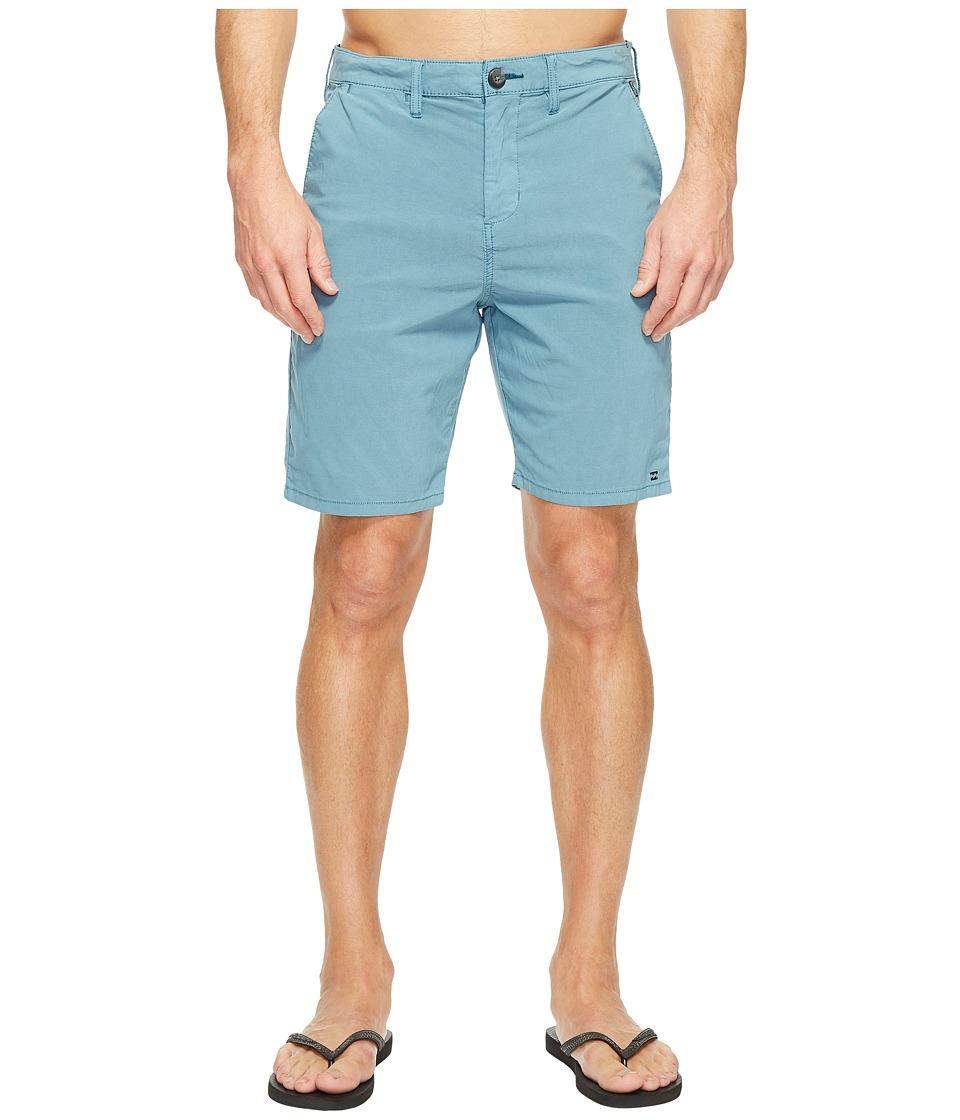 Billabong - New Order X Overdye Walkshorts (Ocean) Men's Shorts