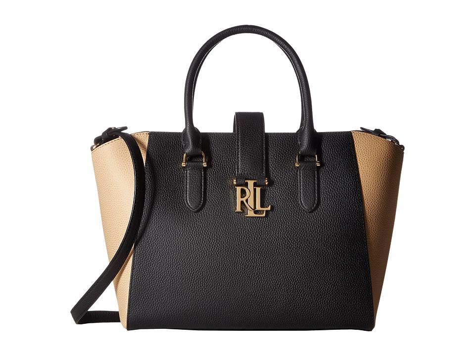 LAUREN Ralph Lauren - Carrington Bethany Shopper (Black/Camel) Handbags