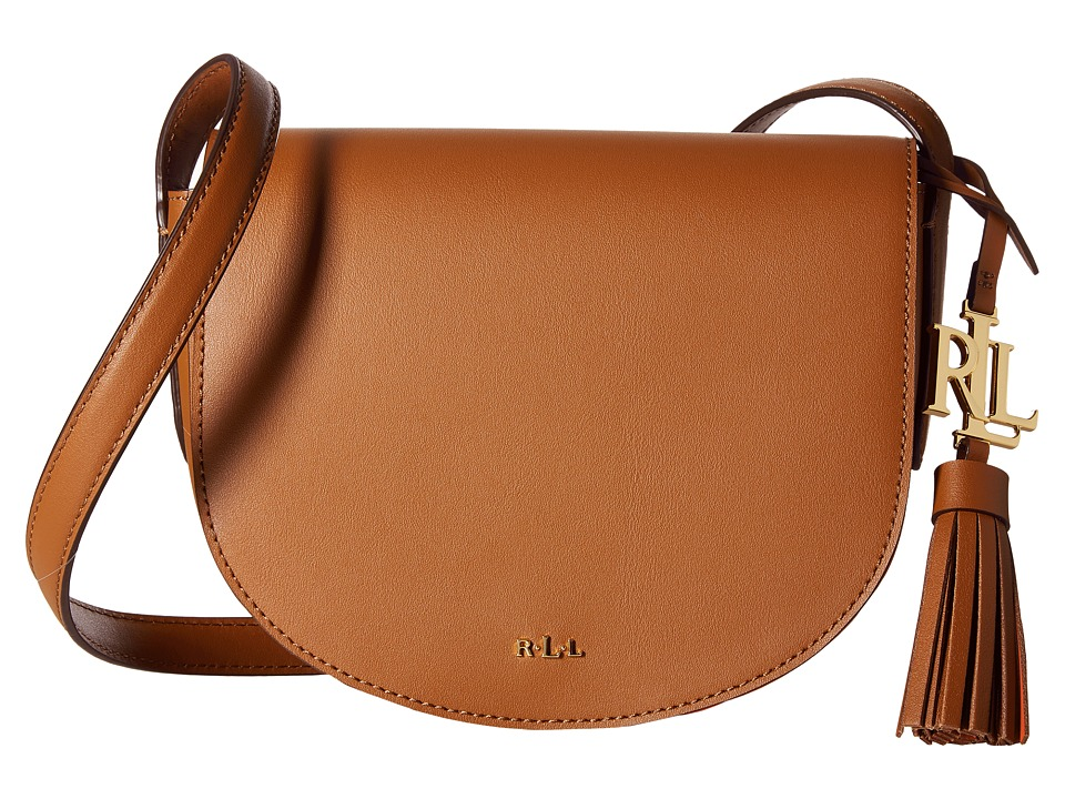 LAUREN Ralph Lauren - Dryden Caley Mini Saddle (Field Brown/Monarch Orange) Handbags
