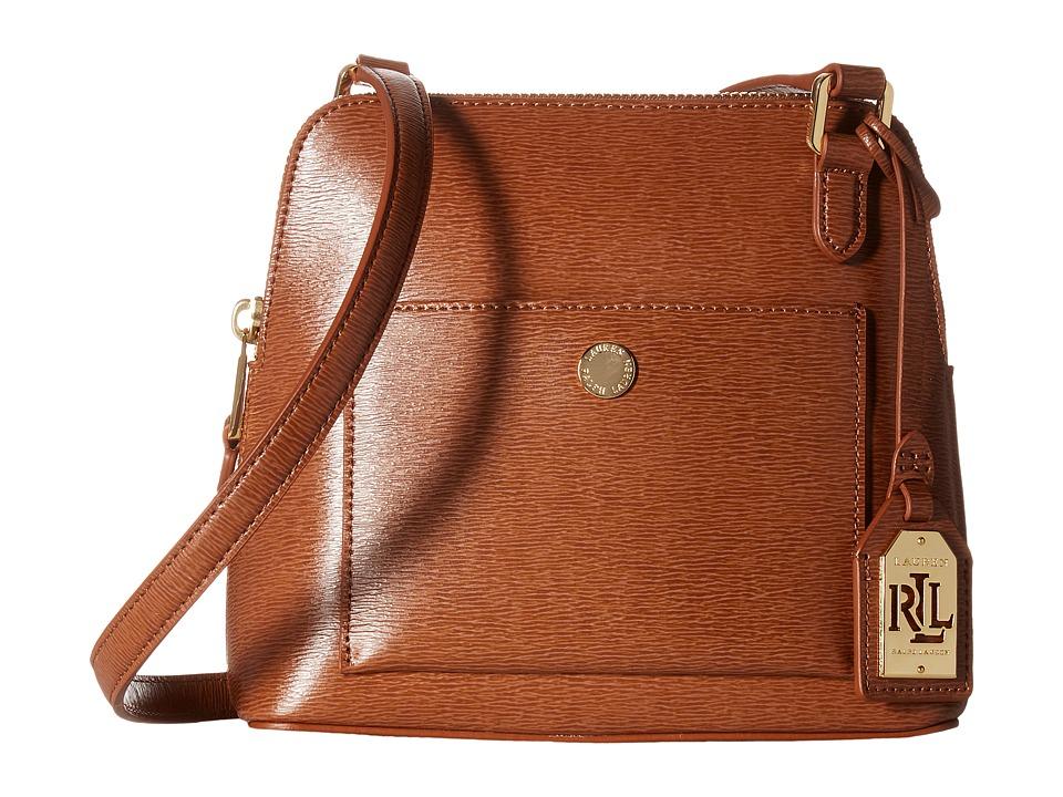 LAUREN Ralph Lauren - Newbury Bailey Dome Crossbody (Lauren Tan) Handbags