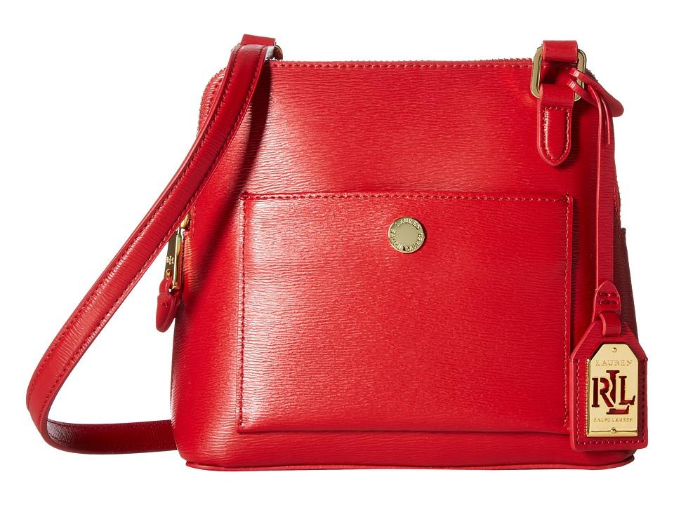 LAUREN Ralph Lauren - Newbury Bailey Dome Crossbody (Red) Handbags