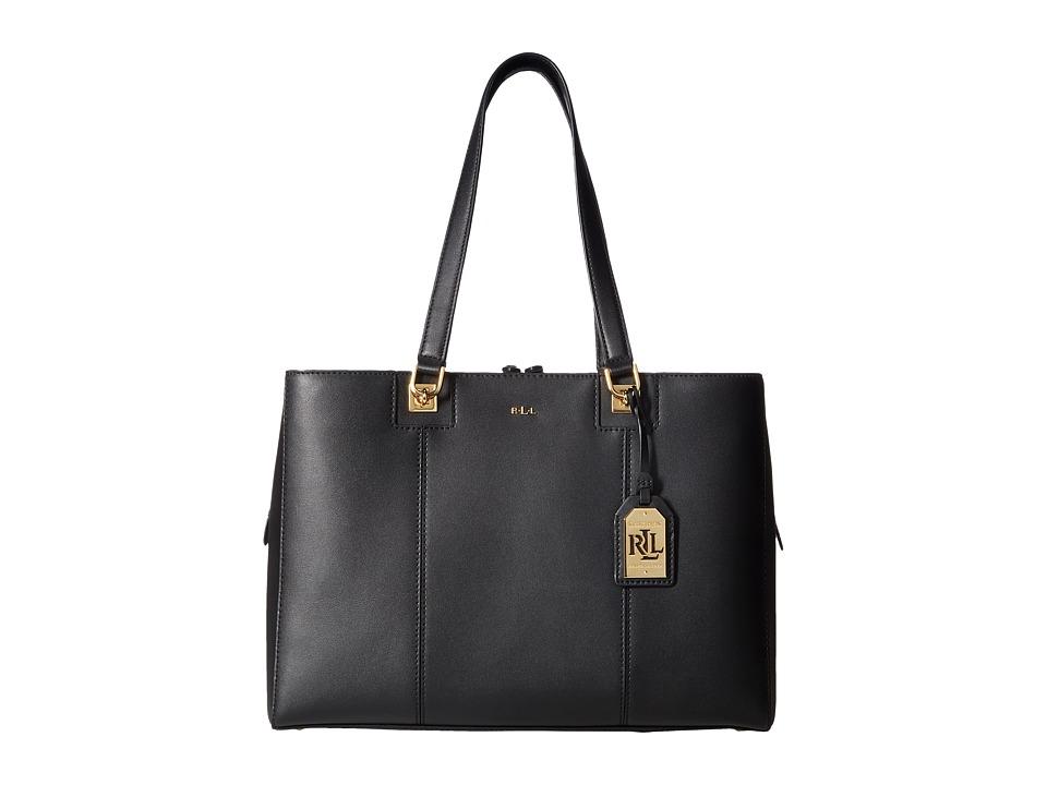 LAUREN Ralph Lauren - Regent Raegan Tote (Black/Vanilla) Handbags