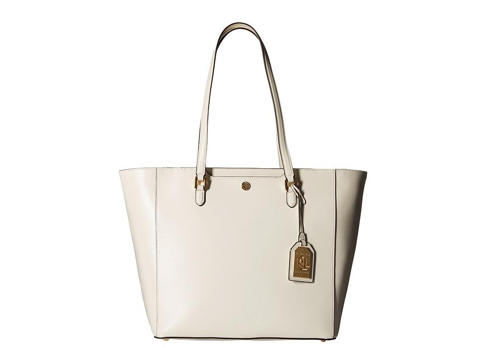 LAUREN Ralph Lauren - Newbury Halee Tote (Vanilla) Tote Handbags