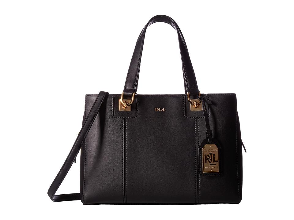 LAUREN Ralph Lauren - Regent Rylee Satchel (Black/Vanilla) Handbags