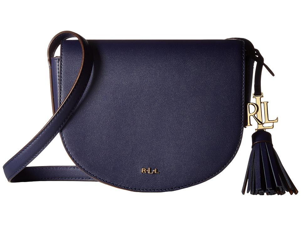 LAUREN Ralph Lauren - Dryden Caley Mini Saddle (Marine/Field Brown) Handbags