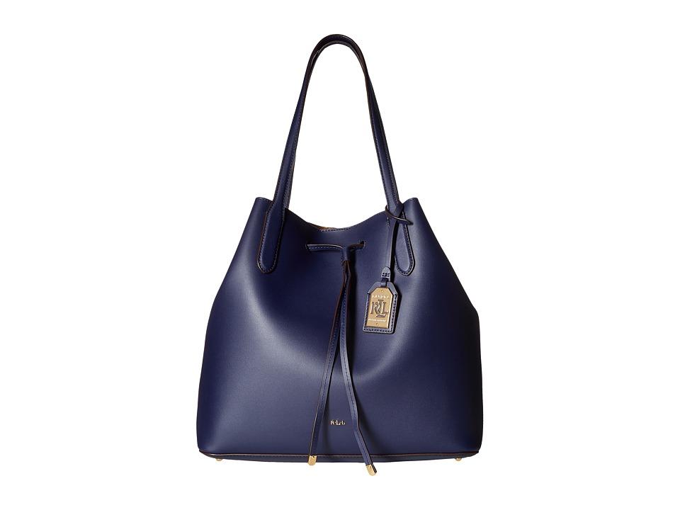 LAUREN Ralph Lauren - Dryden Diana Tote (Marine/Field Brown) Tote Handbags