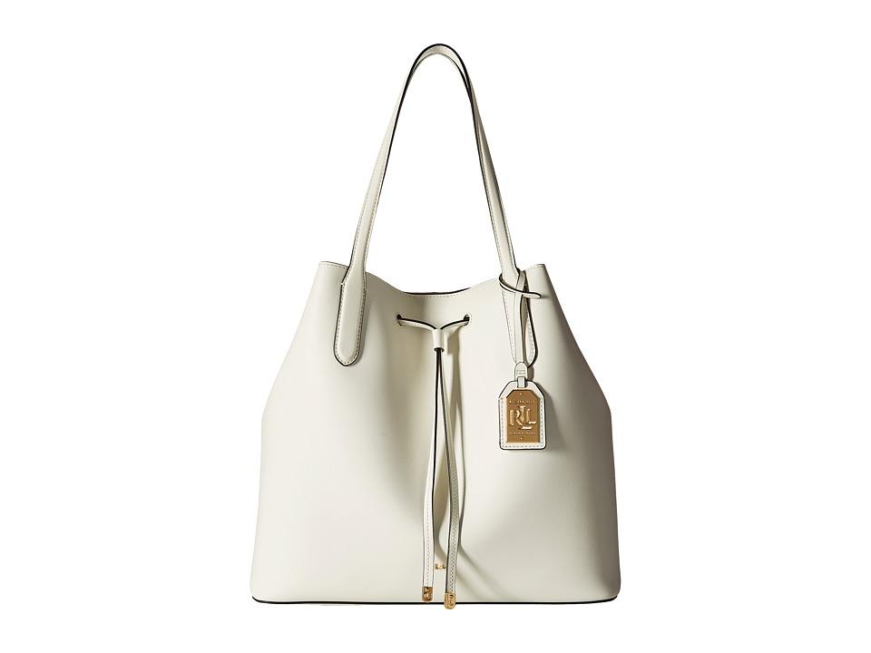 LAUREN Ralph Lauren - Dryden Diana Tote (Vanilla/Black) Tote Handbags
