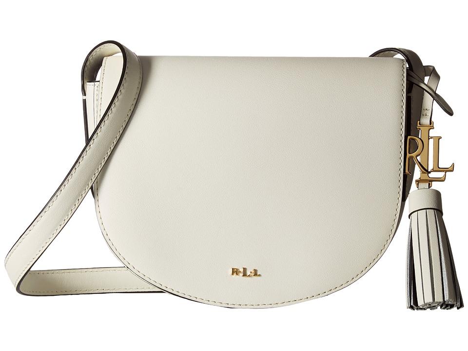 LAUREN Ralph Lauren - Dryden Caley Mini Saddle (Vanilla/Black) Handbags