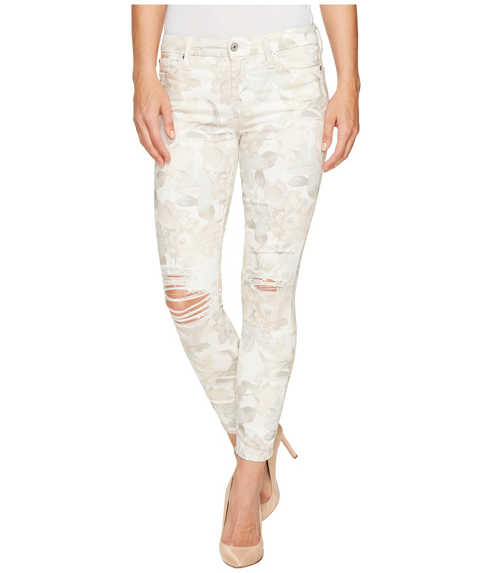 7 For All Mankind - The Ankle Skinny w/ Destroy in Sydney Garden (Sydney Garden) Women's Jeans