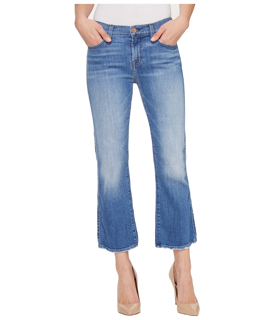 7 For All Mankind - Cropped Boot w/ Grinded Hem in Adelaide Bright Blue (Adelaide Bright Blue) Women's Jeans