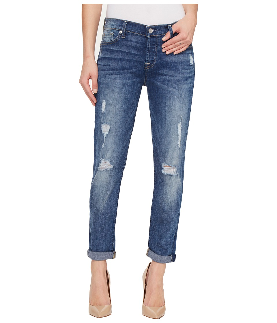 7 For All Mankind - Josefina w/ Destroy in Radiant Pier (Radiant Pier) Women's Jeans