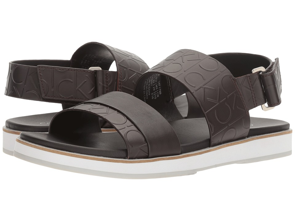 Calvin Klein - Dex (Dark Brown) Men's Sandals