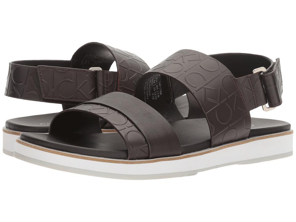 Calvin Klein - Dex (Dark Brown) Men's Sandals