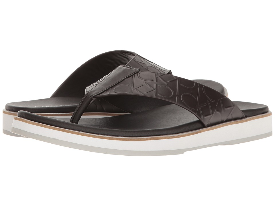 Calvin Klein - Deano (Dark Brown) Men's Sandals