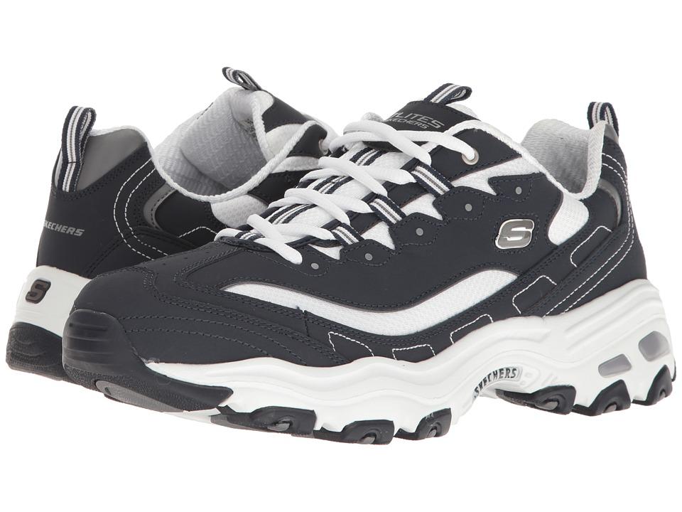 SKECHERS - D'Lites (Navy/White) Men's Lace up casual Shoes