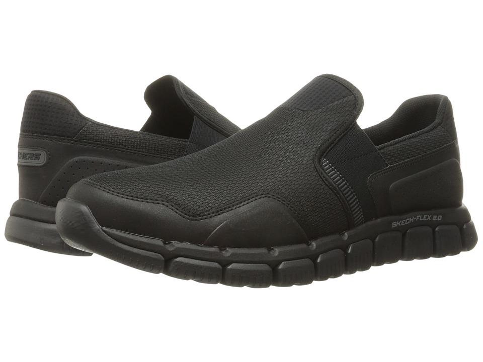 SKECHERS - Skech Flex 2.0 Wentland (Black) Men's Slip on Shoes