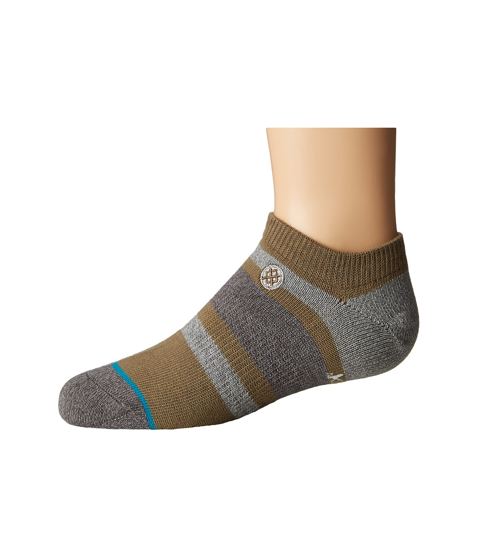 Stance - Boyd Low (Little Kid/Big Kid) (Green) Men's Crew Cut Socks Shoes