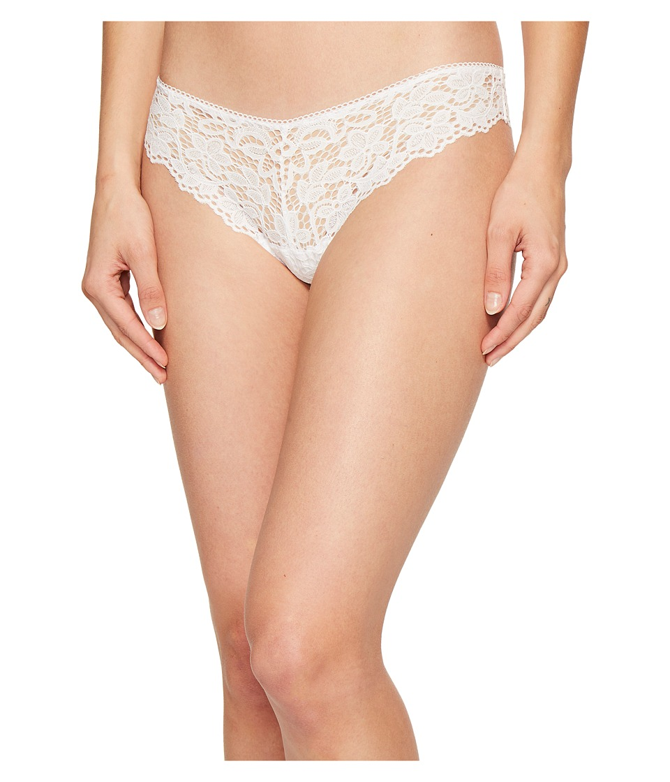DKNY Intimates - Classic Lace Thong (Poplin White) Women's Underwear