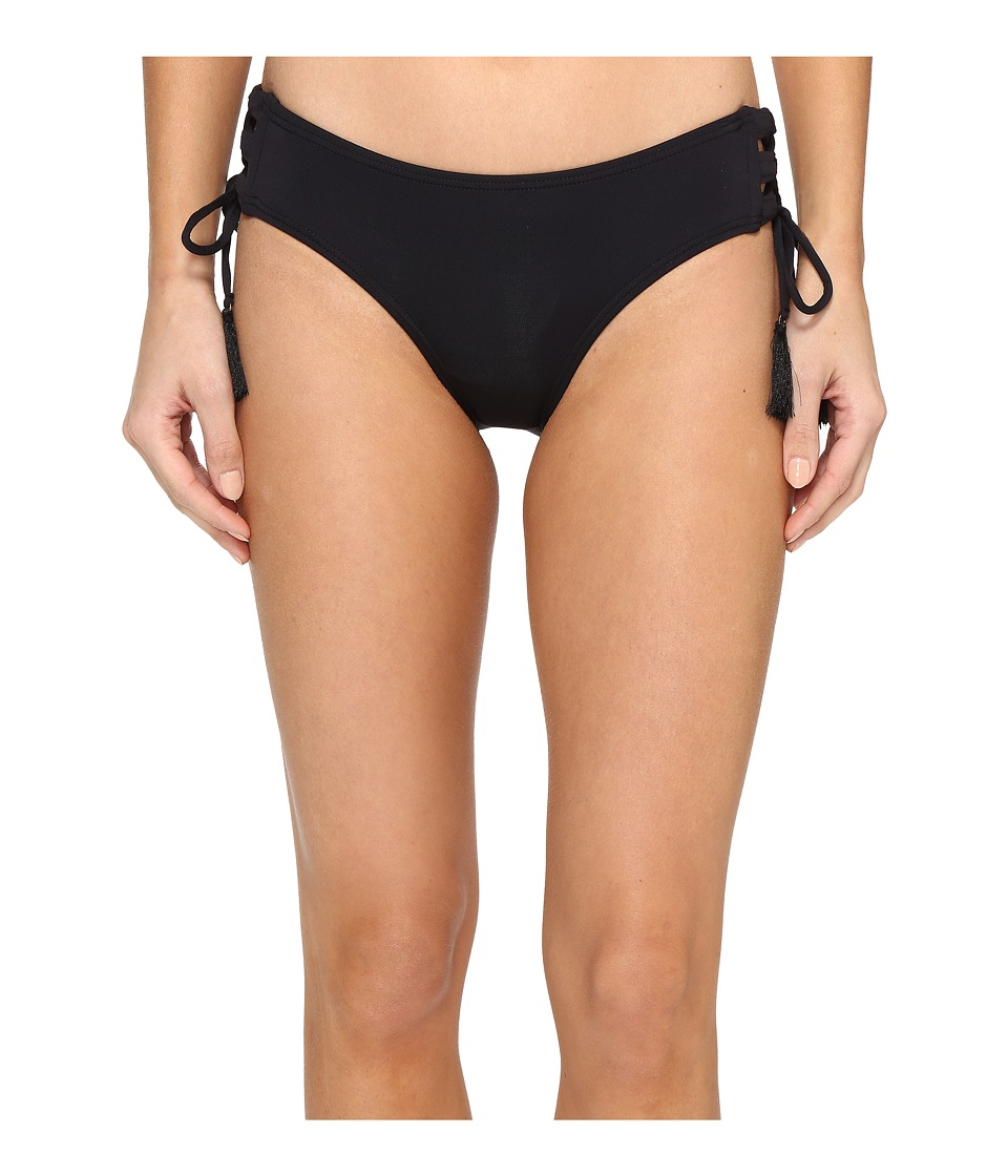 MICHAEL Michael Kors - Coastal Solids Lace-Up Bikini Bottom (Black) Women's Swimwear