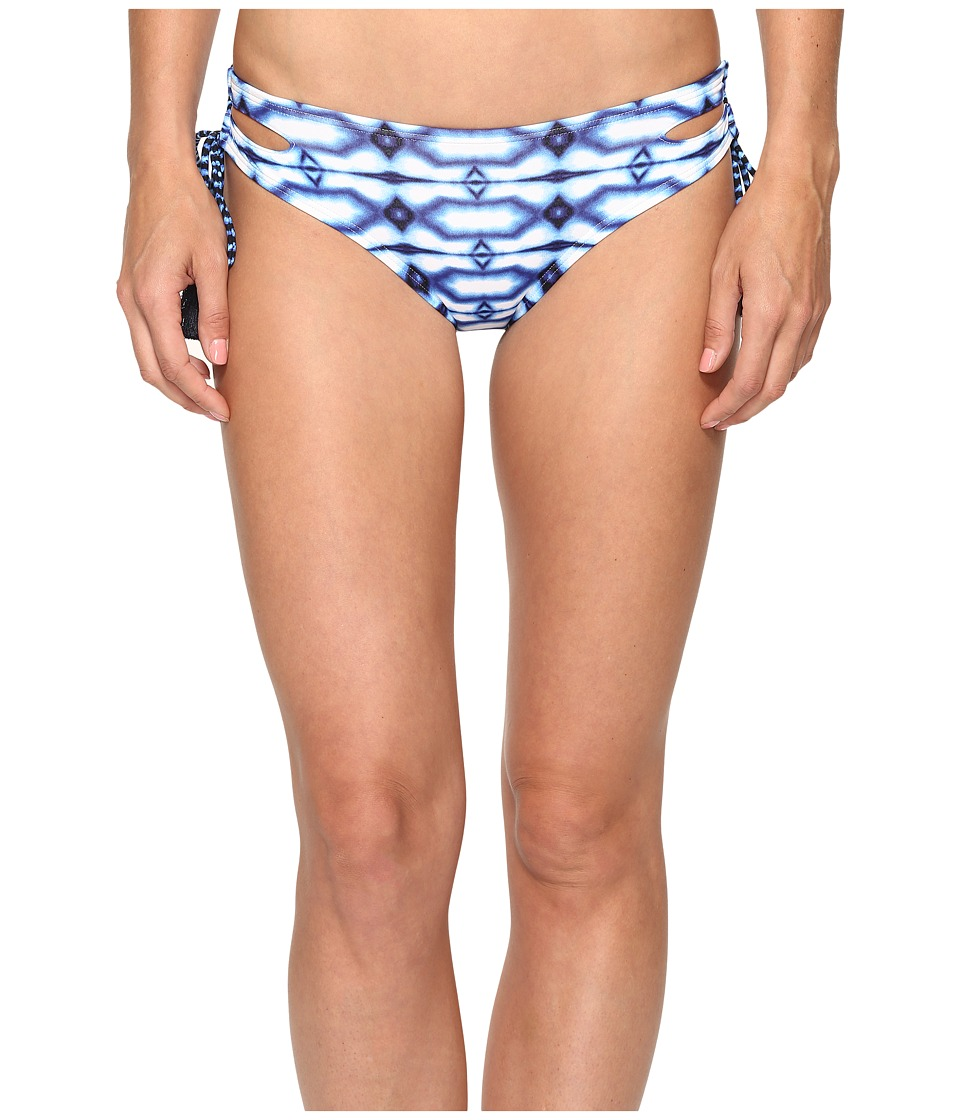 MICHAEL Michael Kors - Summer Breeze Lace-Up Euro Bikini Bottom (New Navy) Women's Swimwear