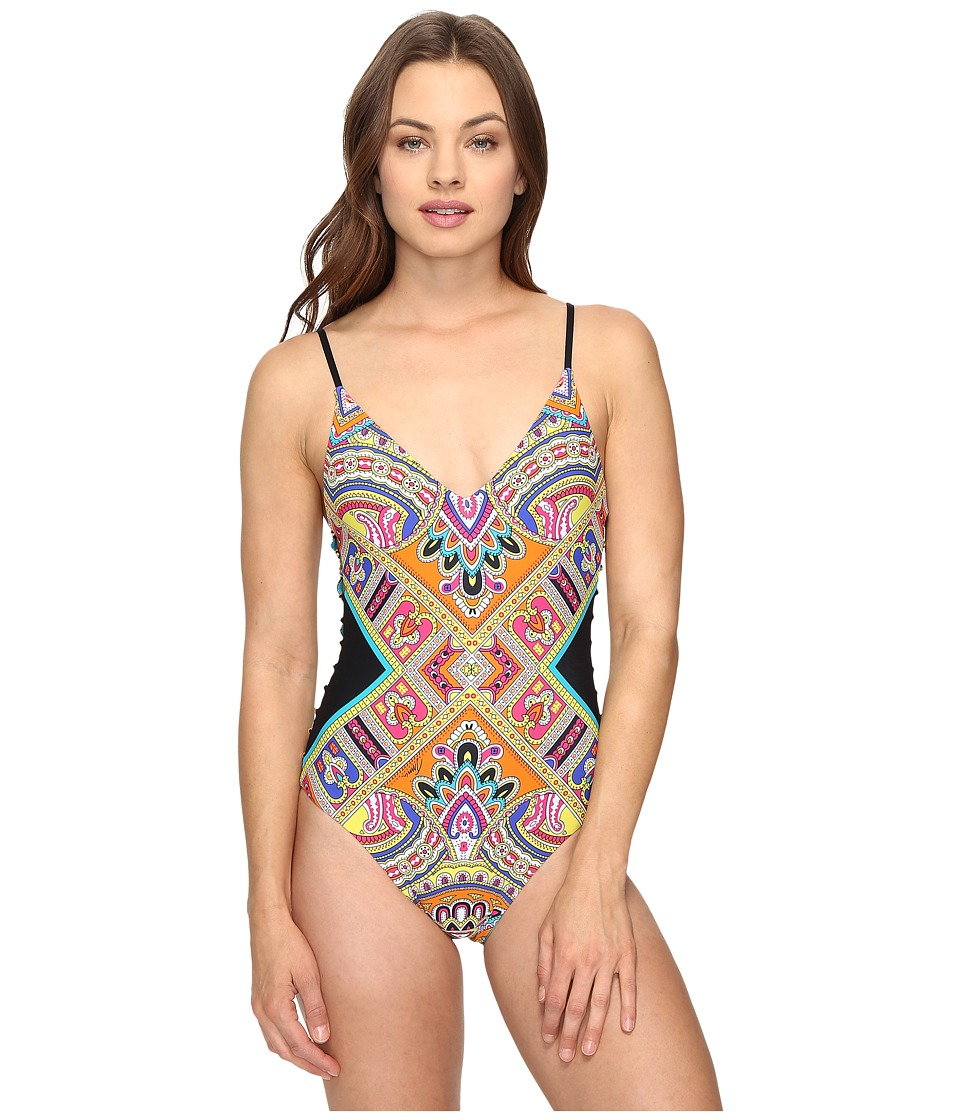 Trina Turk Nepal Over the Shoulder Maillot One-Piece (Multi) Women
