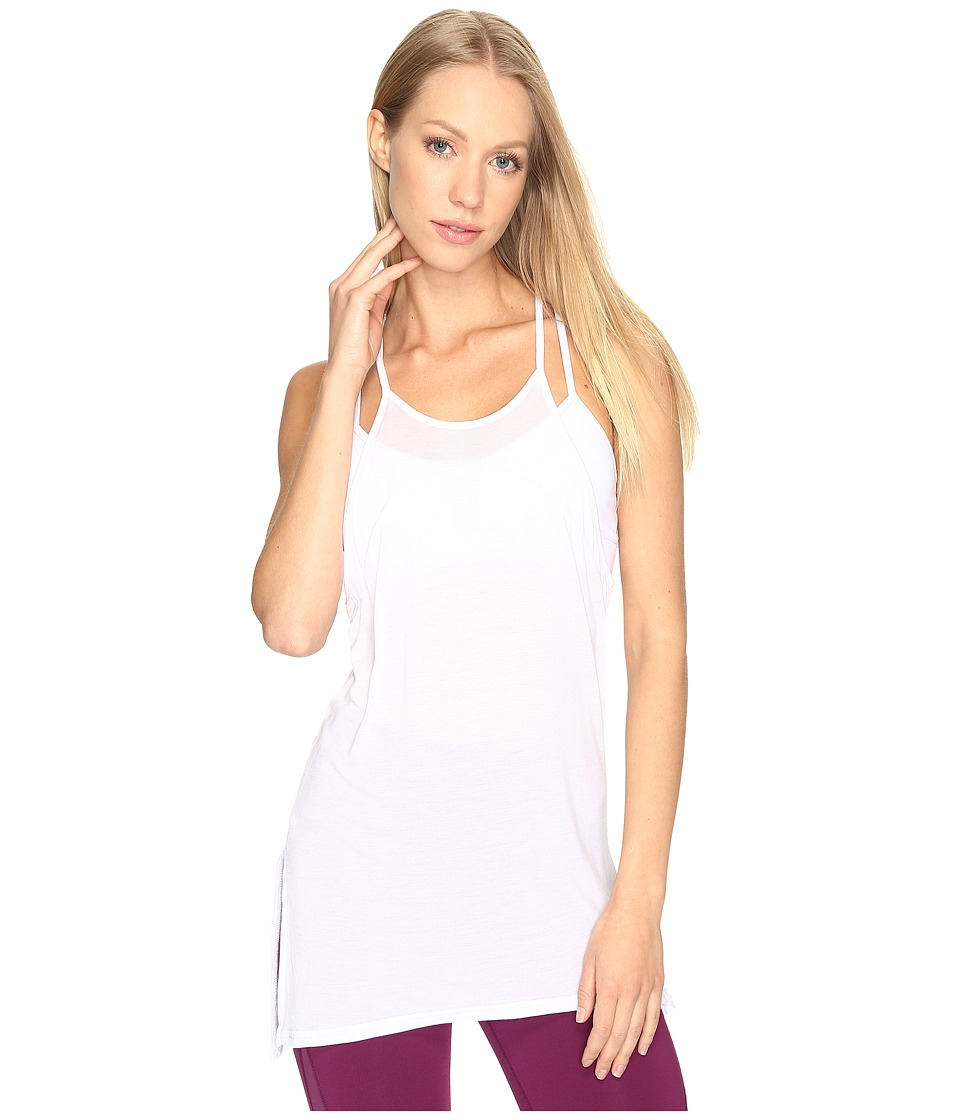 ALO - Arc Tank Top (White) Women's Sleeveless