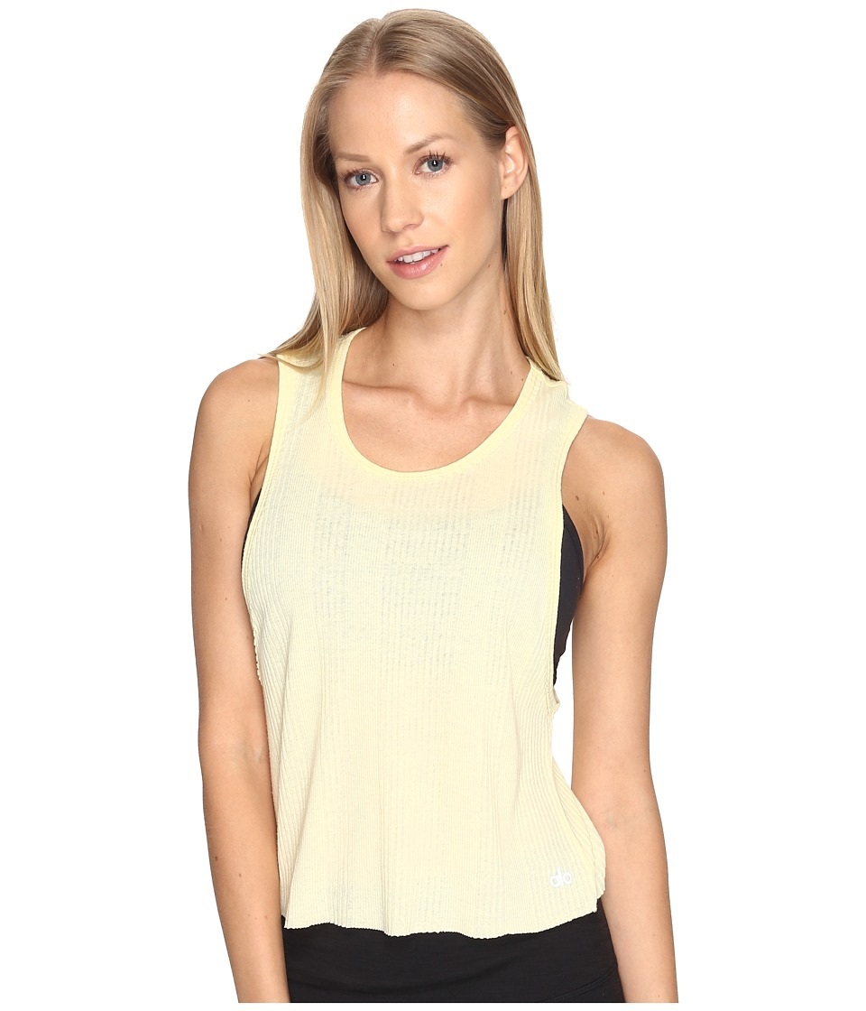 ALO - Air Tank Top (Lemoncello) Women's Sleeveless