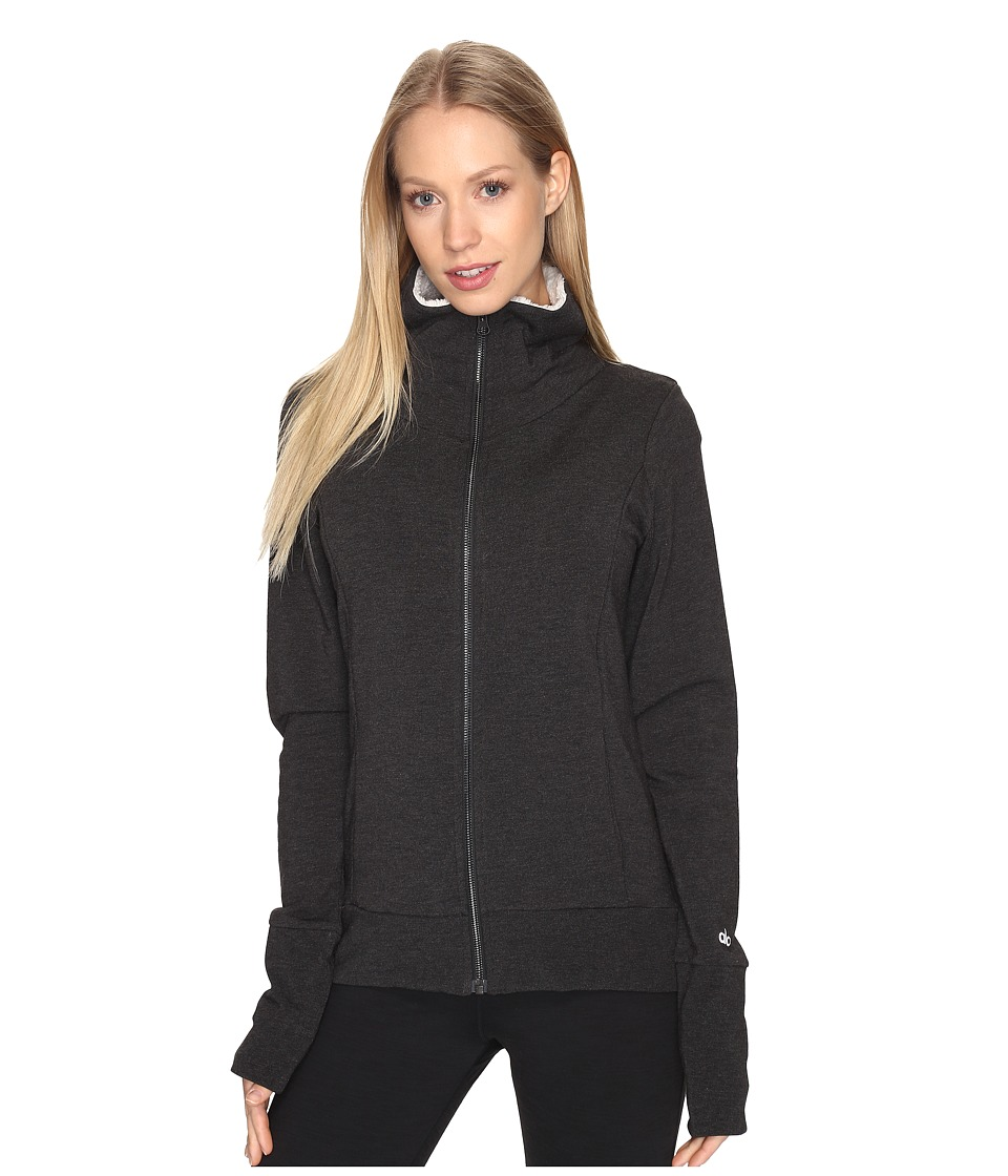 ALO - Comfort Jacket (Charcoal Heather/Natural) Women's Coat