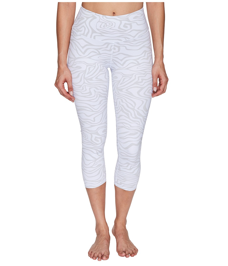 ALO High Waist Airbrush Capris (White Zebra) Women