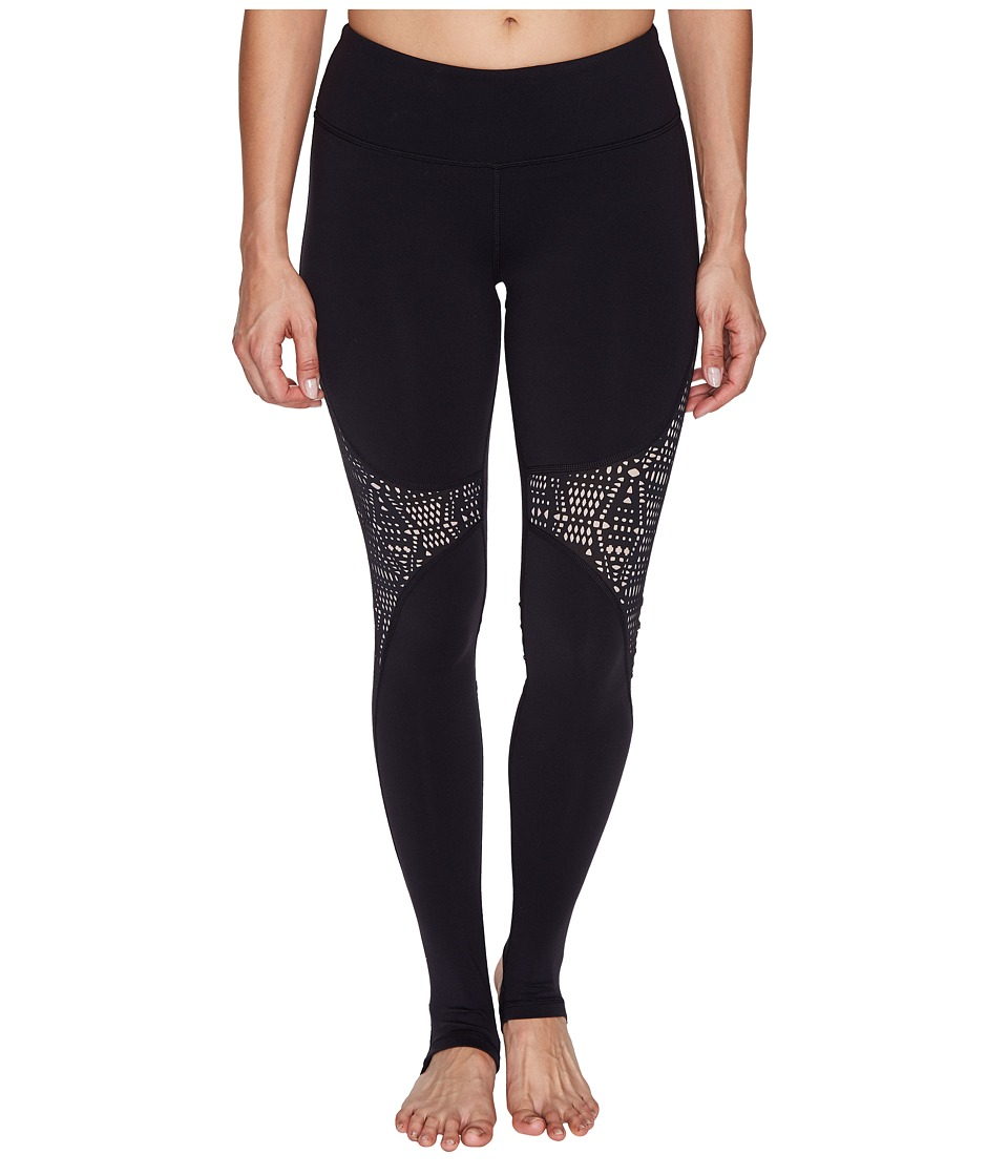 ALO - West Coast Leggings (Black/Buff) Women's Casual Pants