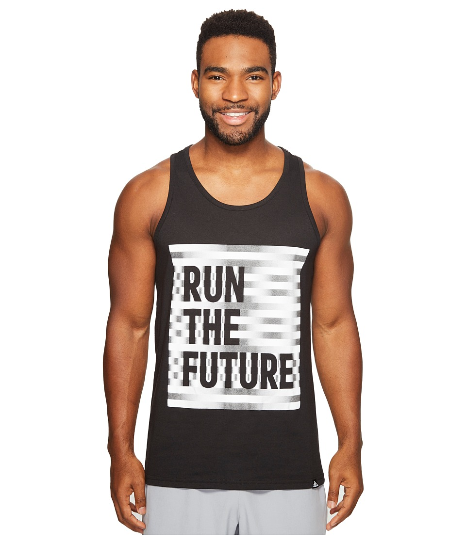 adidas - Run The Future Tank Top (Black/Reflective Silver/White) Men's T Shirt