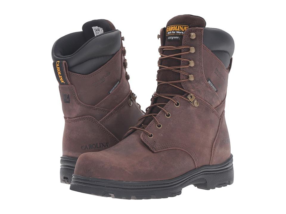 Carolina - 8 Steel Toe Waterproof Insulated Work Boot (Gaucho Crazyhorse) Men's Work Boots