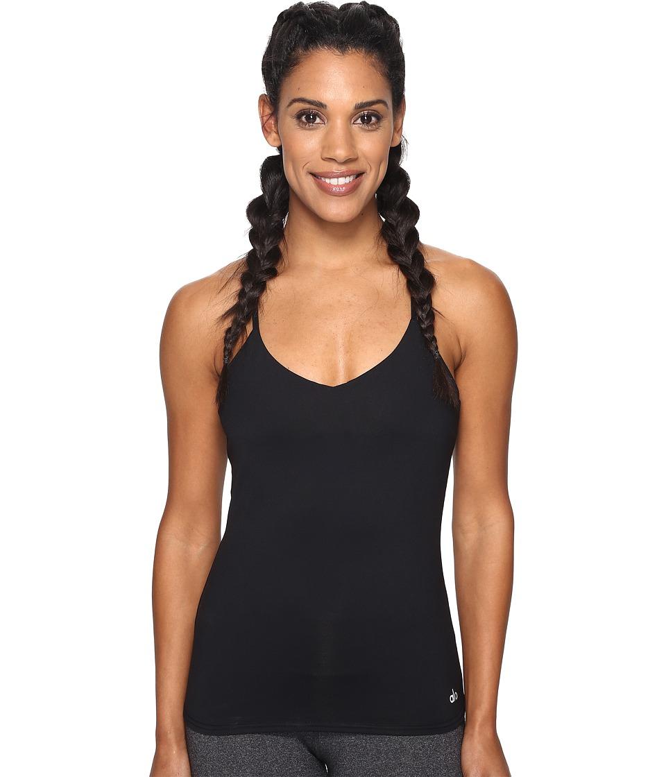 ALO - Link-Up Bra Tank Top (Black) Women's Sleeveless