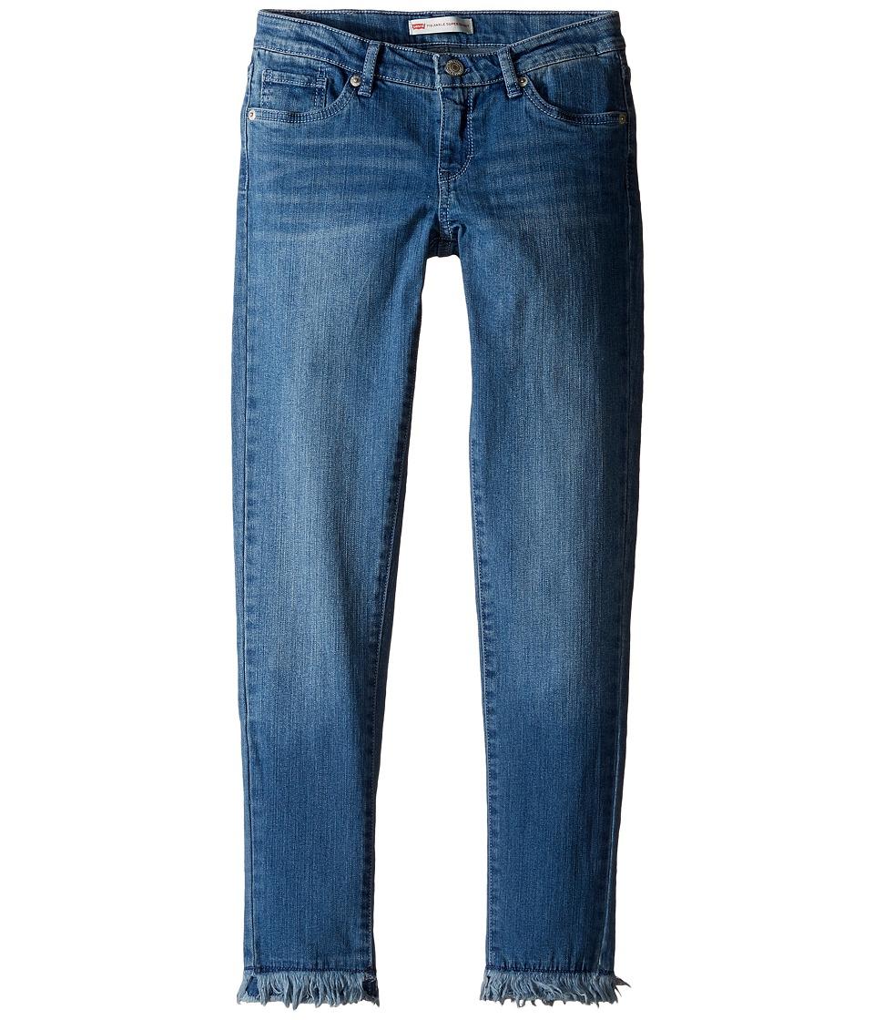 Levi's(r) Kids - Fringe Ankle Super Skinny Jeans (Big Kids) (Blue Winds) Girl's Jeans