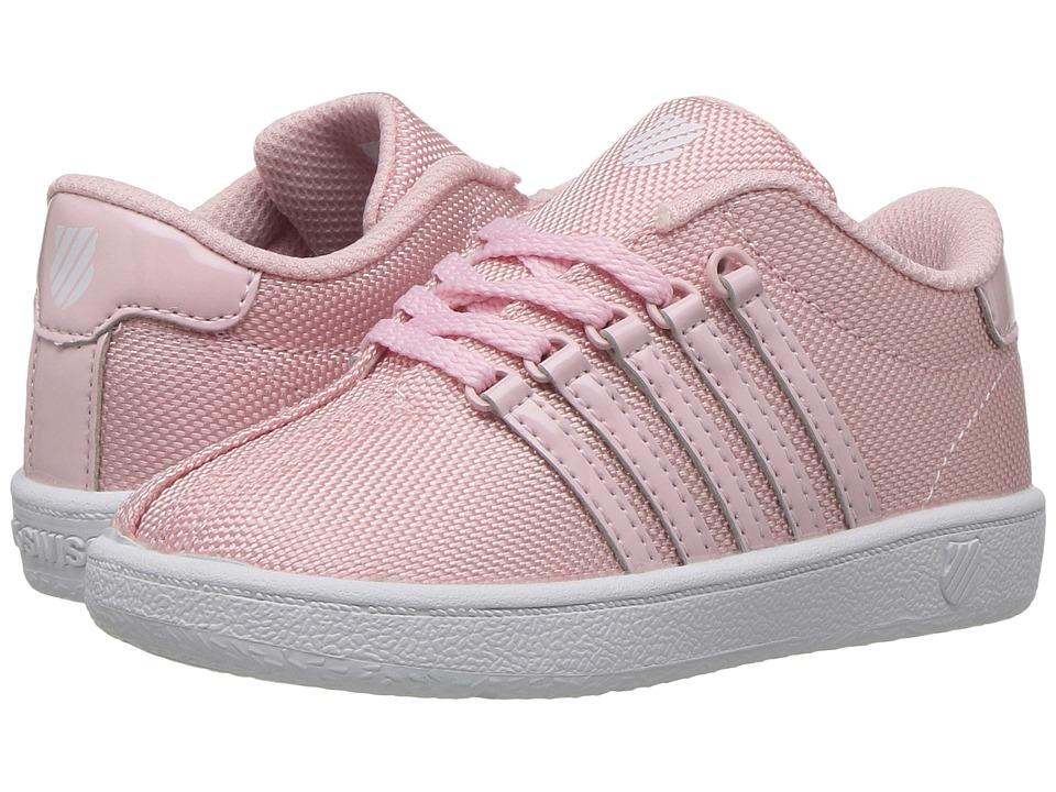 K-Swiss Kids - Classic VN T (Infant/Toddler) (Potpourri/White) Girl's Shoes