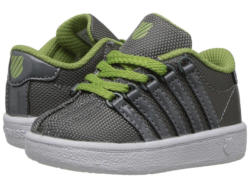 K-Swiss Kids - Classic VN T (Infant/Toddler) (Neutral Grey/Tarragon/White) Boys Shoes