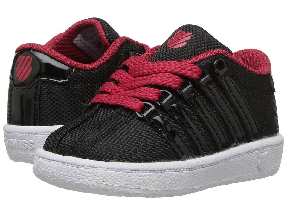 K-Swiss Kids - Classic VN T (Infant/Toddler) (Black/Chili Pepper/White) Boys Shoes