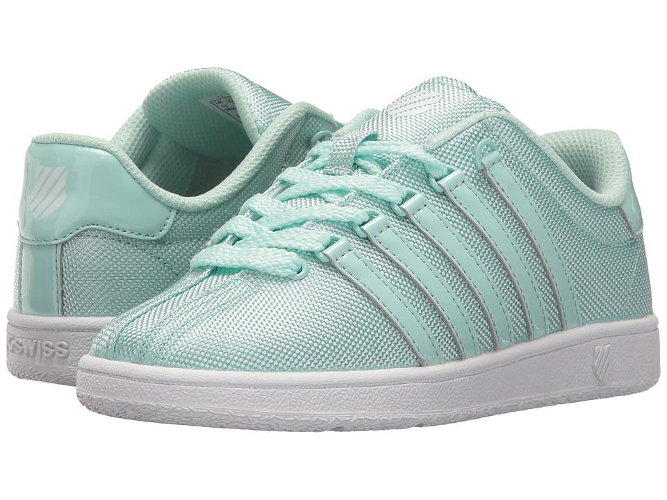 K-Swiss Kids - Classic VN T (Little Kid) (Fair Aqua/White) Girl's Shoes