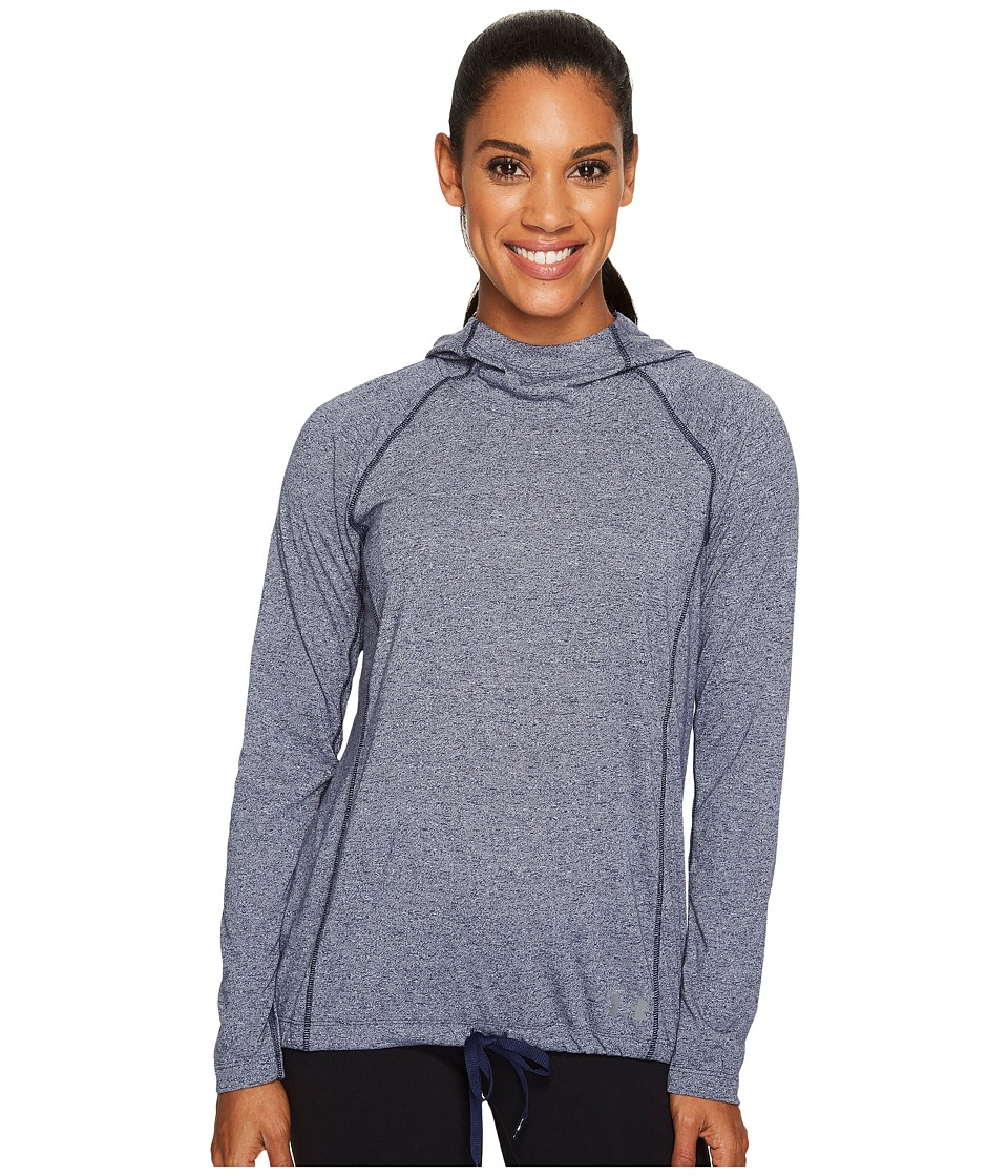 Under Armour - Threadborne Train Hood Twist (Midnight Navy) Women's Clothing