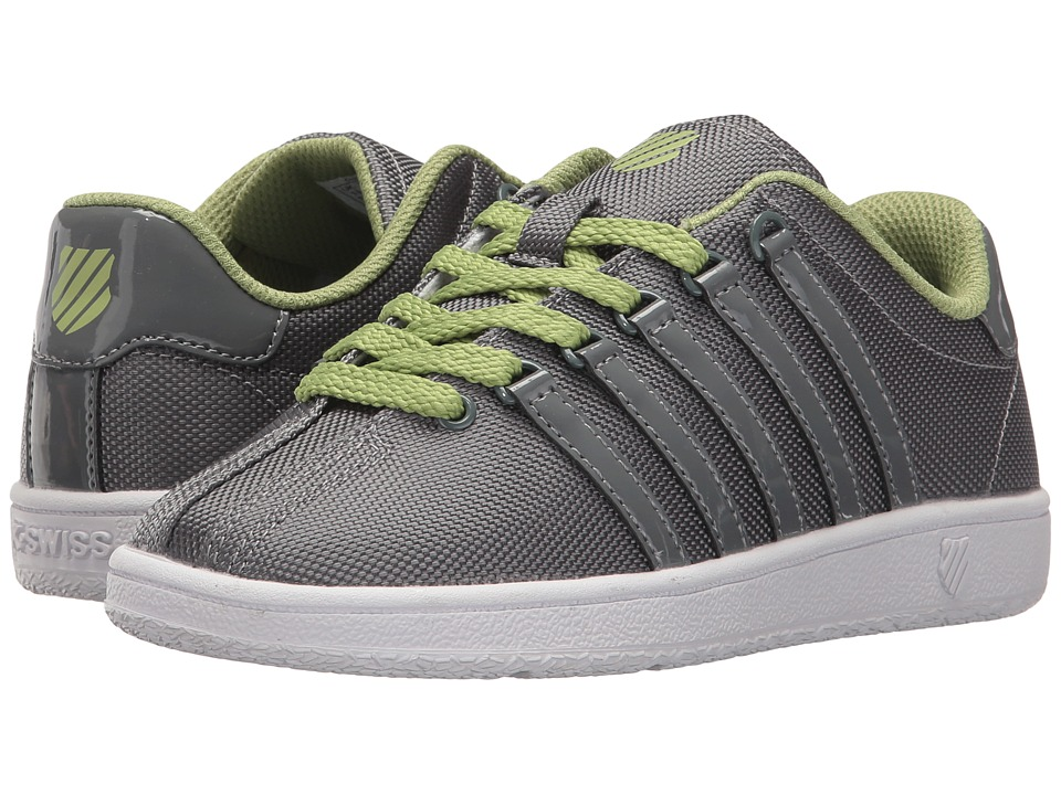 K-Swiss Kids - Classic VN T (Little Kid) (Neutral Grey/Tarragon/White) Boys Shoes