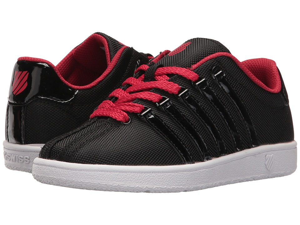 K-Swiss Kids - Classic VN T (Little Kid) (Black/Chili Pepper/White) Boys Shoes