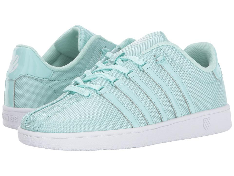 K-Swiss Kids - Classic VN T (Big Kid) (Fair Aqua/White) Girl's Shoes