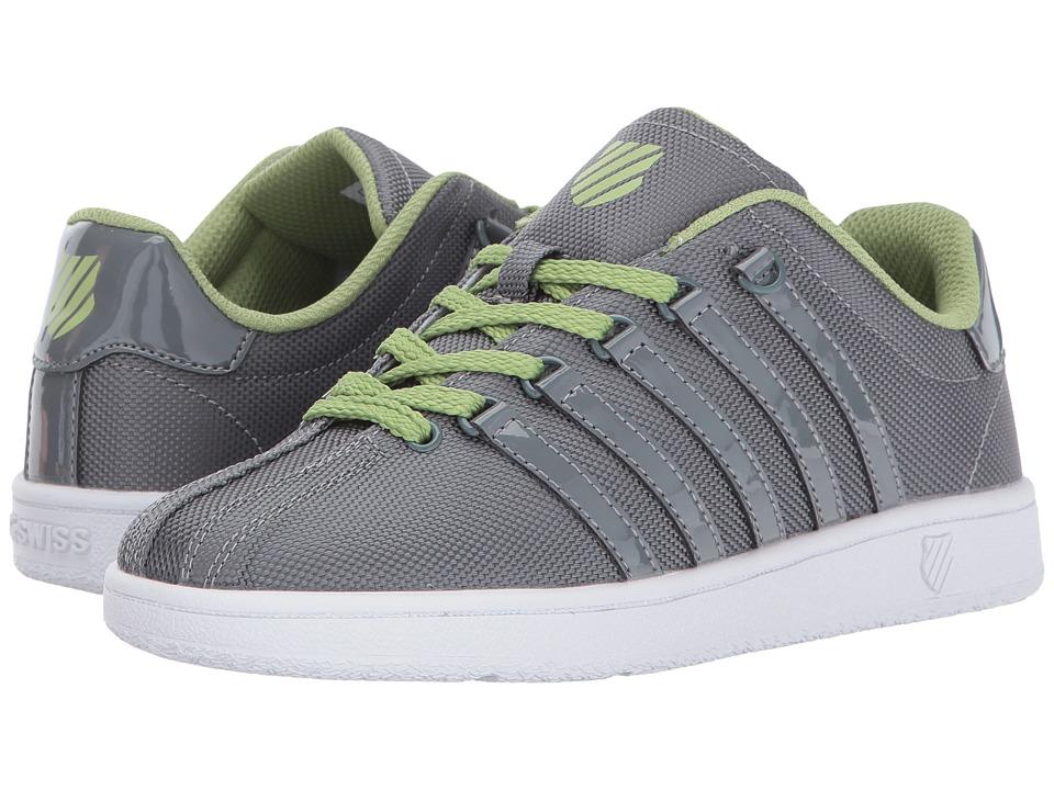 K-Swiss Kids - Classic VN T (Big Kid) (Neutral Grey/Tarragon/White) Boys Shoes