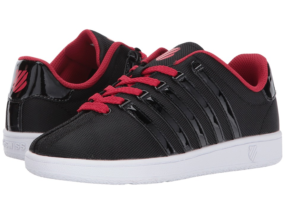 K-Swiss Kids - Classic VN T (Big Kid) (Black/Chili Pepper/White) Boys Shoes