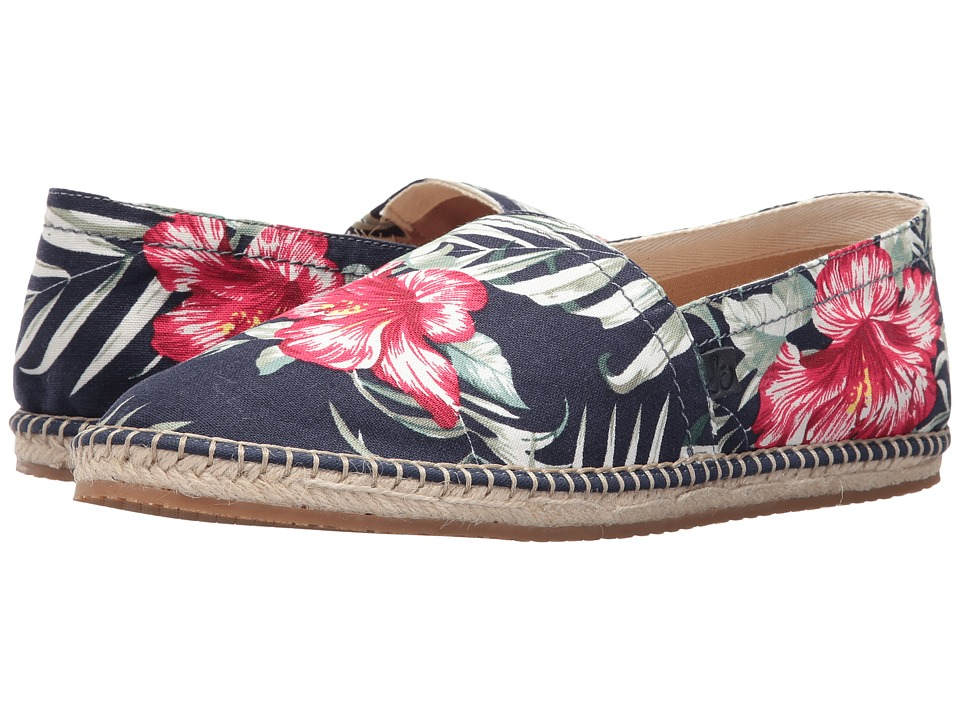 Sam Edelman - Aaron (Navy/Green/Red Printed Canvas (Floral)) Men's Shoes