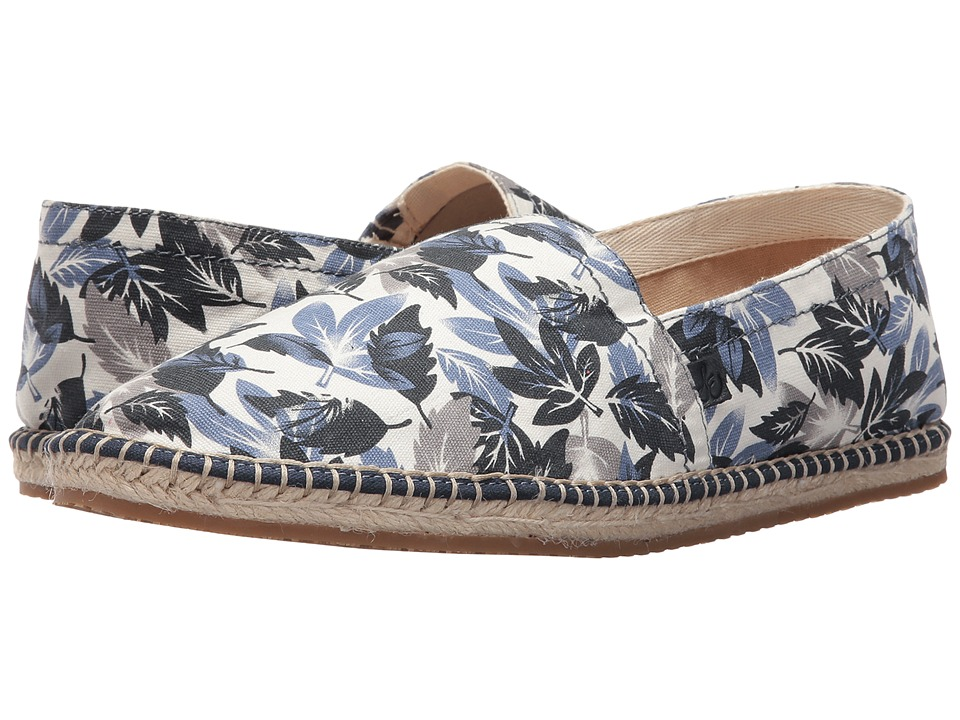 Sam Edelman - Aaron (White/Navy Printed Canvas (Leaves)) Men's Shoes