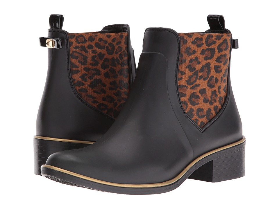 Kate Spade New York - Sedgewick (Black/Leopard) Women's Pull-on Boots