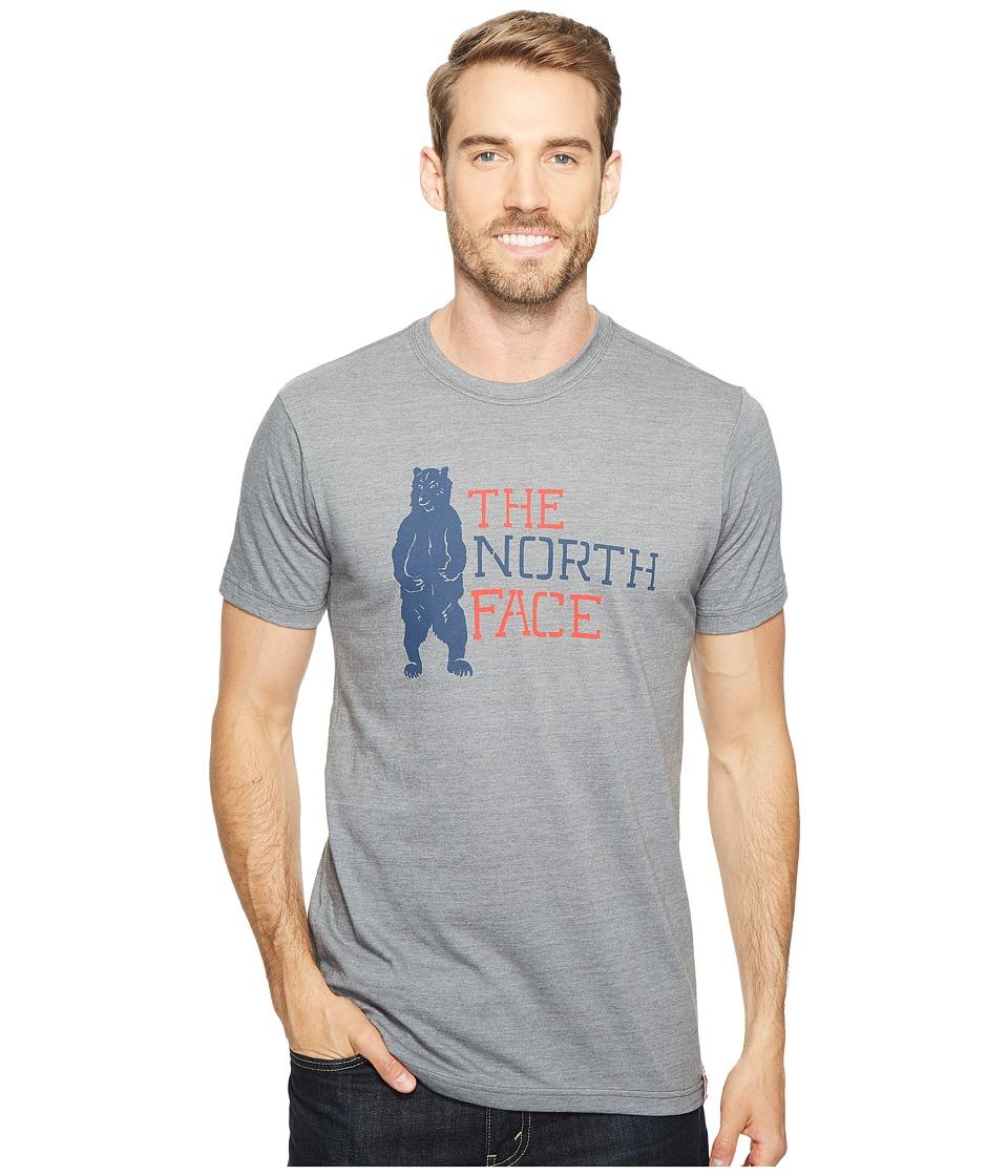 The North Face - Short Sleeve American Tri-Blend Slim Tee (TNF Medium Grey Heather (Prior Season)) Men's T Shirt