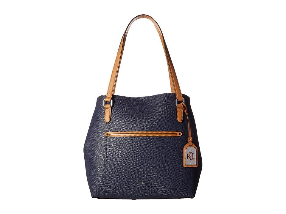 LAUREN Ralph Lauren - Lindley Alissa Tote (Marine) Tote Handbags